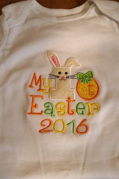First Easter Baby Body Suit / 1st / boy / gender neutral /