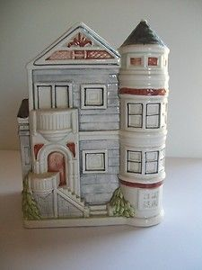 "Otagiri House Victorian Planter Vase Holder 6"" tall ceramic 1982"