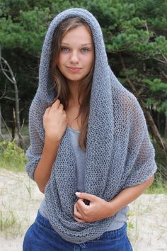 cowl in grey. Love this!