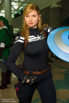 Comikaze 2014 Lady Captain America #Cosplay