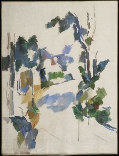Paul Cézanne / Study of Trees / c. 1904 / Alternate Title: Arbres; Winding Road / Oil on canvas / love this, it's beautifully abstract