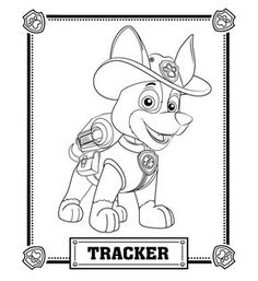Paw Patrol Tracker Coloring Pages from Paw Patrol Coloring Pages Collection. PAW Patrol is a pre-school animated television series from Canada created by Keith Chapman. The main Characters of this cartoon series is Ryder . Paw Patrol Coloring Pages, Cartoon Coloring Pages, Coloring Pages To Print, Coloring Book Pages, Printable Coloring Pages, Coloring Pages For Kids, Coloring Sheets, Paw Patrol Birthday Cake, Paw Patrol Party