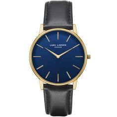 LW47 · Mens watch · Gold with blue dial