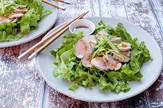 Qooking.ch | Filet de porc mariné Filets, Lettuce, Asian, Cabbage, Meat, Chicken, Vegetables, Food, Salads