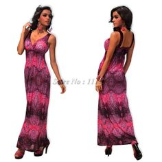 M XXL Plus Size 2014 New Fashion Women Sexy Vintage Printed Summer Hippe Boho  Bohemian Maxi Long Casual Beach Dress Dresses from App. 7bf6bb34057d