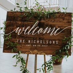 Custom Welcome to Our Wedding Sign, Large Rustic Wood Sign, Wood Welcome Sign, Wedding Gift, Custom Rustic Wedding Decor Wooden Wedding Signs, Custom Wedding Gifts, Rustic Wedding Signs, Rustic Wood Signs, Floral Wedding Cakes, Wedding Cake Designs, Wedding Cake Toppers, Wedding Flowers, Personalized Cake Toppers