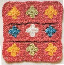 Tiny Grannies Crochet Square Pattern. More Great Looks Like This