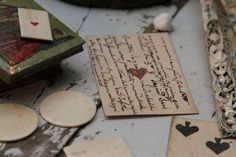love notes - the old fashioned way - Jane would be proud...