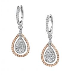Style #ER504  1.15 Carat Diamond Earrings    These lovely 18K white and yellow gold dangle earrings feature 1.15 carats of round diamonds.