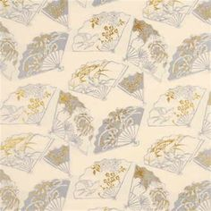 Handsome silver fox whimsical decorator fabric by G P