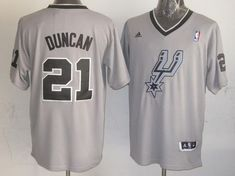 4cb092c6696 Spurs  21 Tim Duncan Grey 2013 Christmas Day Swingman Stitched NBA Jersey