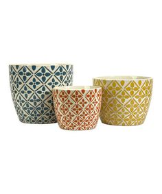 Kelly Bright Planter Set by IMAX #zulily #zulilyfinds