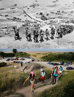 June marked a turning point in World War II as Allied troops stormed the beaches of Normandy, forcing the end of the German occupation of France. To mark this Friday's anniversary of D-Day, Reuters photographer Chris Helgren compiled a. D Day Photos, Then And Now Photos, Old Photos, Panama Red, World History, World War Ii, D Day Normandy, D Day Landings, Interesting History