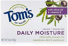 Toms of Maine Natural Beauty Bar Daily Moisture with Olive Oil Vitamin E Soap Trial Size Pack of 12 -- Click image for more details. (This is an affiliate link) All Natural Makeup, All Natural Skin Care, Natural Beauty, Natural Vitamin E, Body Cleanser, Organic Coconut Oil, Beauty Bar, Bar Soap, Skin Care Tips