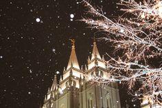 salt lake city temple square photo winter christmas lights