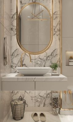 Various combinations of vanities and sinks can look truly elegant and expensive. If you don't need a lot of storage space, consider a minimalist vanity with just a few drawers and a simple sink. The elegance can be achieved with a breathtaking marble tile choice.   #wallmountedvanity #interiorstyling #bathroomvanity #bathroomvanitytops #homedecorideas #bathroomdesign #homedesignideas #interiorandhome #bathroomvanityideas #interiordesignlovers #homebeautiful #designdetails #interiordesignjunkie Bathroom Design Small, Bathroom Interior Design, Modern Bathroom, Modern Vanity, Bathroom Designs, Tiny Bathrooms, 1950s Bathroom, Luxury Bathrooms, Boho Bathroom