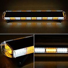 "Amazon.com: Amber/White 96W 51"" 129cm 96-LED Warning Hazard Emergency Car Tow Truck Flashing Strobe Light Bar Strobe Light, Emergency Lighting, Tow Truck, Strobing, Bar Lighting, Amber, Lights, Led, Amazon"