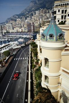 catching sight of a flashy red race car zooming by during the monaco grand prix. magical! (april 2014)