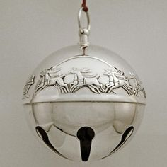 1972 Wallace Sleigh Bell Silverplate Ornament
