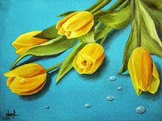 5 Sfaturi pentru a picta cele mai frumoase flori - Curs Pictura Mai, Painting, Painting Art, Paintings, Painted Canvas, Drawings