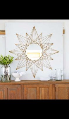 7 DIY Home Decor Crafts to Make With Rope – diy mirror Diy Wand, Rope Crafts, Crafts To Make, Twine Crafts, Crafts Cheap, Diy Home Decor Projects, Decor Crafts, Diy Home Crafts, Art Crafts