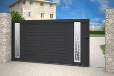 Iron Gate Design, House Gate Design, Modern Fence Design, Aluminium Gates, Geometric Furniture, Modern Entrance, Main Gate, Door Gate, Entry Gates