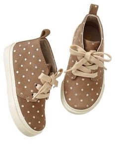 121b58f170ce GAP Baby   Toddler Girl Size 6 NWT Brown Polka Dot Suede Desert Boots Shoes