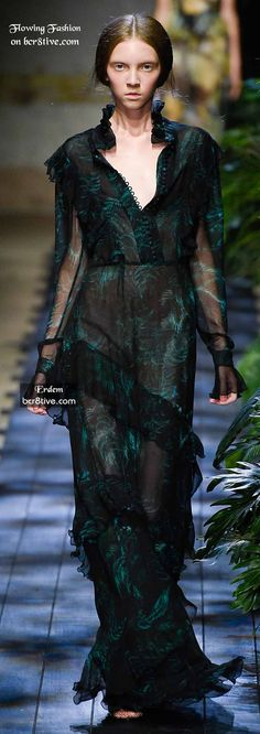 Erdem. Model looks like a corpse, but love the dress.