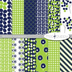 Brewster Navy&Green  Digital Scrapbook Paper Pack   by mooandpuppy  https://www.etsy.com/listing/100117653/brewster-navygreen-digital-scrapbook?ref=shop_home_active_17