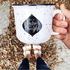 Ceramic Mug - All Is Calm, All Is Bright – Between the Lines, Inc