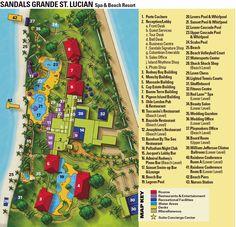 Sandals Grande St Lucia Resort Map www.romanticplanet.ca