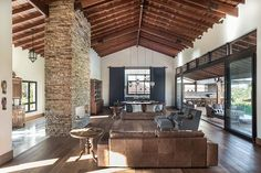 New House Architecture Contemporary Stones 62 Ideas Craftsman Farmhouse, Craftsman House Plans, Barn House Conversion, Rustic Lake Houses, House Architecture Styles, House Star, Barn Renovation, Home Interior, Interior Modern