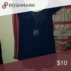 Fashion Top gently used in excellent condition navy blue fashion top by Jessica Simpson Jessica Simpson Tops Blouses