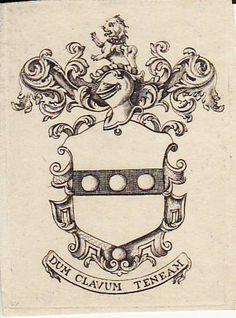 Thomas Penn bookplate printed by Benjamin Franklin