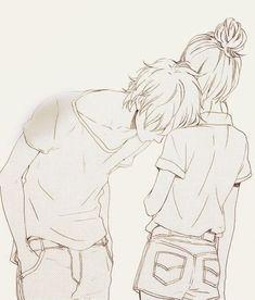 Cute anime couple: