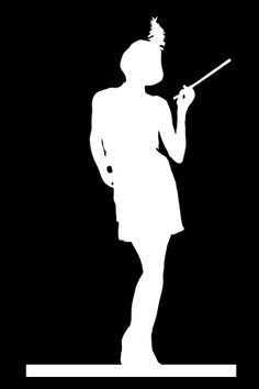 Silhouette - Flapper Girl 1