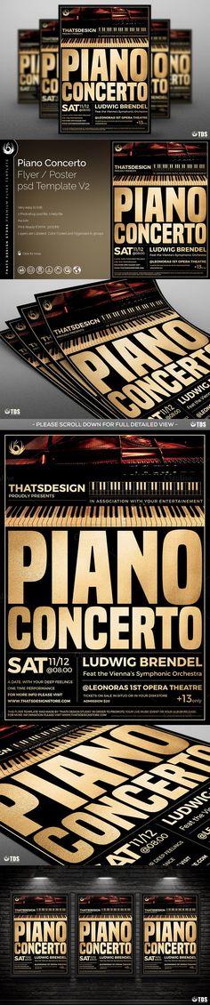 Piano Concerto Flyer Template V2