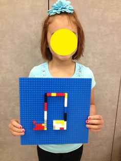 Making Lego music notes as a center activity!