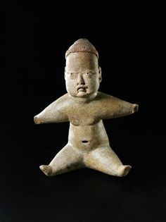 Personaggio seduto, Cultura olmeca Las Bocas, Stato di Puebla, Messico Preclassico medio,1200-900 a.C. Venezia, Collezione Ligabue.