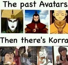 I'm pretty sure the others all had weird face moments. I know Aang did I have seen the entire series.