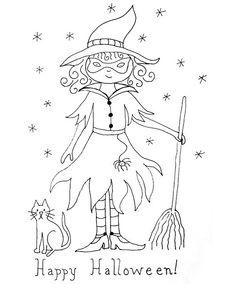 Patchwork witch Pattern   Found on flickr.com