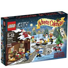 Found my new Advent Calendar! Count down to Christmas with the LEGO® City Advent Calendar, a great gift featuring 7 minifigures, a snowman, turkey, sled and more. Lego Advent Calendar, Advent Calenders, Lego Friends, Lego Christmas, Christmas Gifts, Christmas 2014, Christmas Hamper, Toddler Christmas, Father Christmas