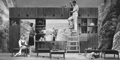 Setting a PASTOE bookcase, 1964