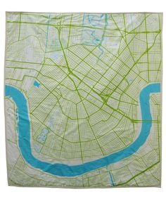 New Orleans baby quilt!!!! I need one!!! This company is amazing!!! They make map quilts!