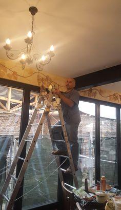 Crama Domnească. Pictură parietală decorativă. Friză decorativă. Ceilings, Floors, Chandelier, Walls, Ceiling Lights, Lighting, Home Decor, Ceiling, Home Tiles