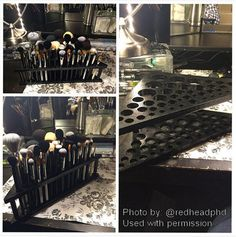 Makeup Brush Holder by EricsGamesAndThings on Etsy -- omg this is what I need to get my brushes how I want in my bathroom setup