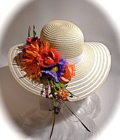 Sun Hat Mother of the Bride Garden Party Hats by Marcellefinery