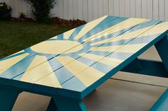 31 Best Painted Picnic Tables Images In 2012 Painted