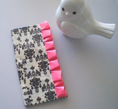 Bridesmaid Gift Damask Duct Tape Wallet with Pink by elegantduck, $16.00