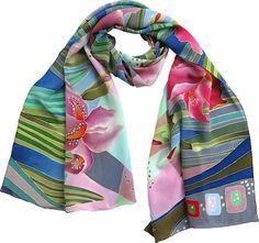 silk scarf Iris. Han